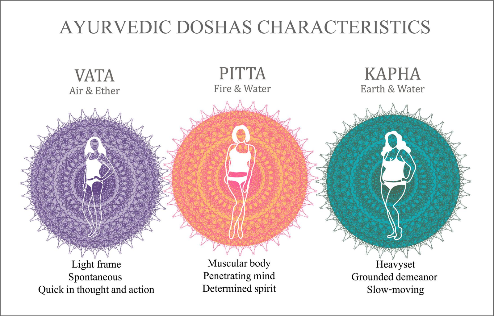 3 Ayurvedic Doshas and their Energies – The Tribe Concepts
