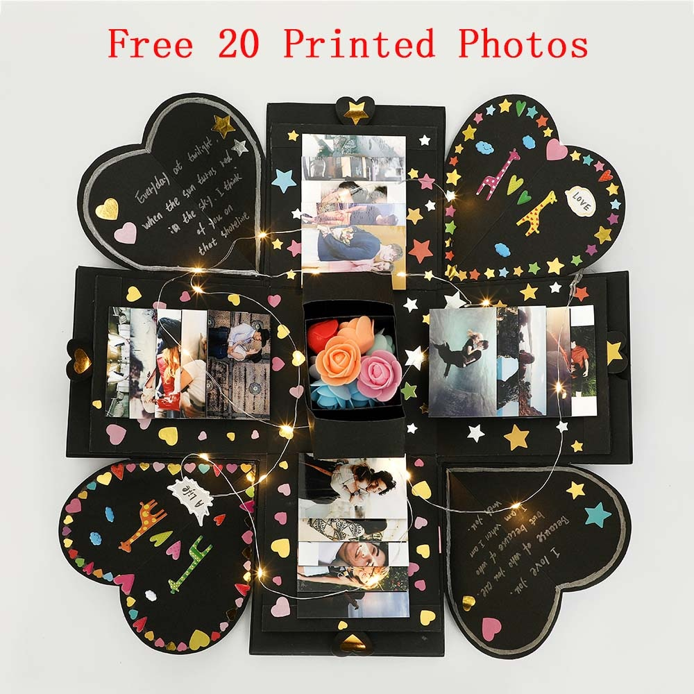 15x15x15cm Surprise Explosion Box filled with Love (20 Free photos)