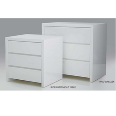 Clance Nightstand and Half Dresser