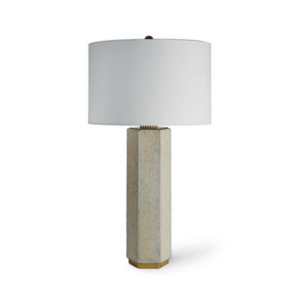 Regina Andrew Concrete and Brass Table Lamp