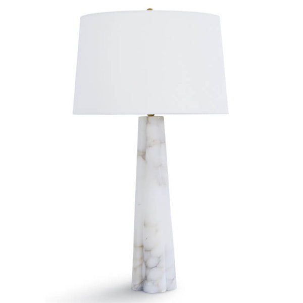 Regina Andrew Alabaster Quartrefoil Table Lamp