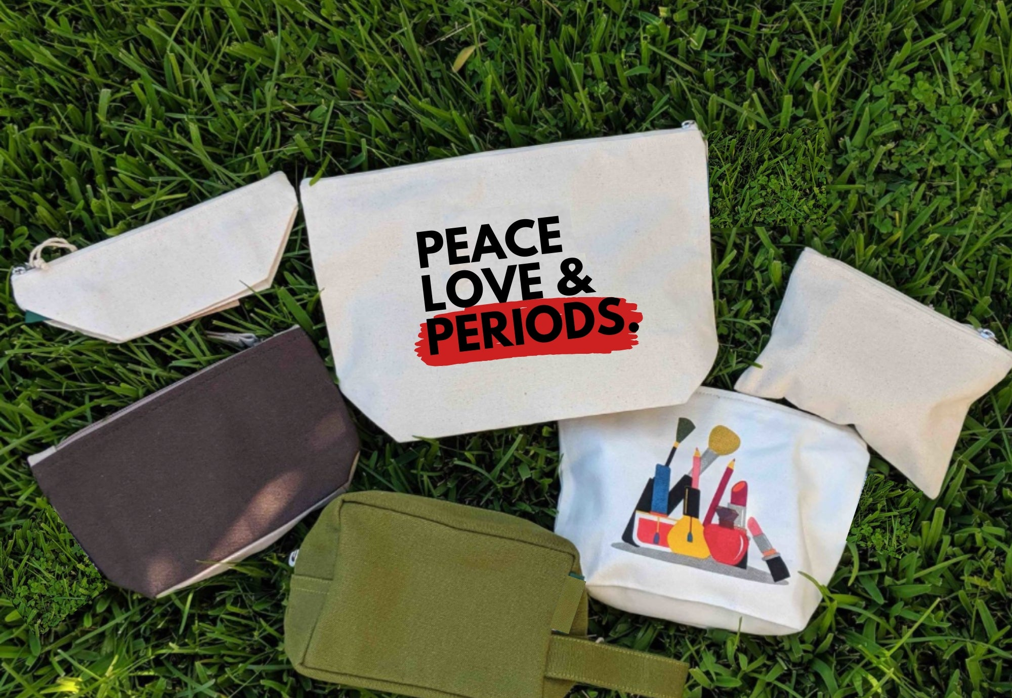 Peace Love & Periods. Pouch