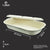 SUGAR CANE OVAL FOOD TRAY w/LID (850ML x 50PCS)