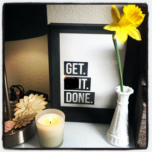 """Get Shit Done"" hand-poured soy candle (6oz)"