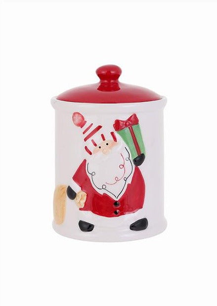 Christmas Series- Santa Ceramic Jar