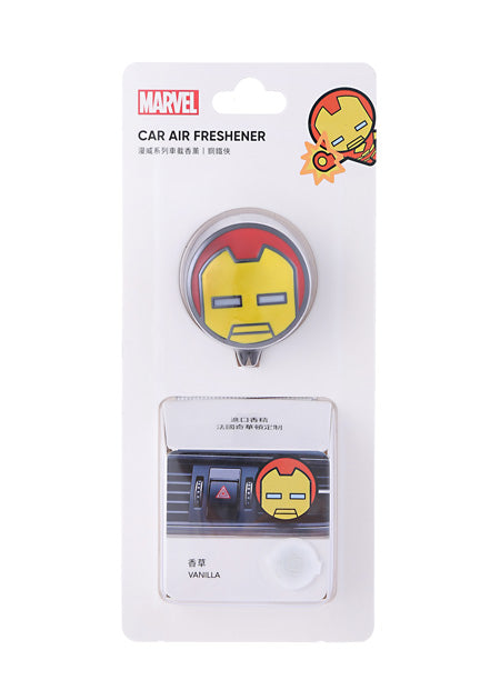 MINISO Marvel Car Air Freshener for Vehicle Vent Clip, Stainless Zinc Alloy Car Diffuser Iron Man