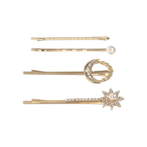 Star and Moon Hair Clip