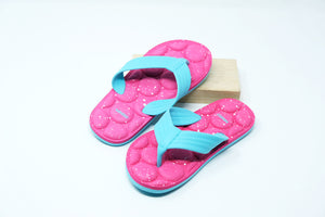 Sports Series Children's Flip Flops (Blue+Pink)