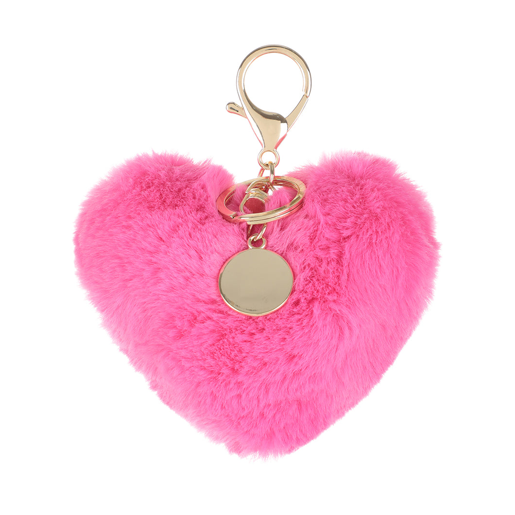 Heart Plush Key Ring