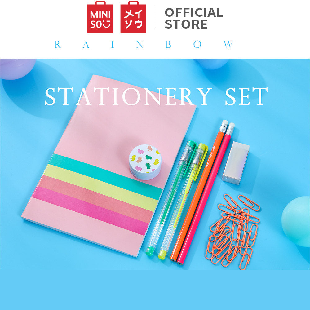 Candy Rainbow Series Stationery Set with Pen