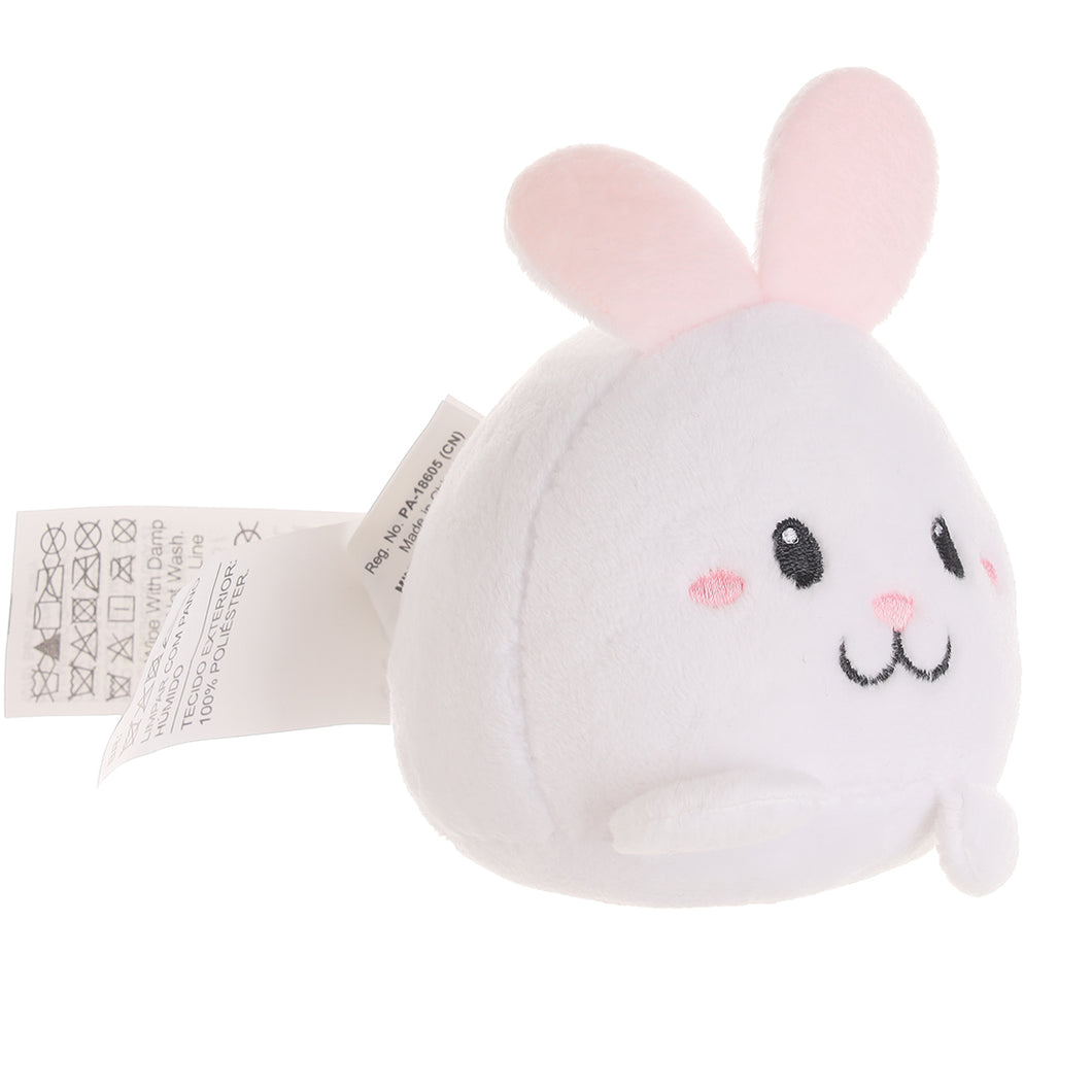 MINISO Cute Rabbit Plush Toy with Sound, Stuffed Animal Doll for Kids Children Girls Boys 4.3 Inch - White