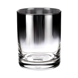 Gradient glass straight short cup-350ml (black)