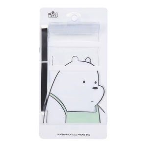 MINISO We Bare Bears Universal Waterproof Pouch Cellphone Dry Bag Case for iPhone 11 Pro Max Xs Max XR X 8 7 6S Plus SE, Galaxy S20 Ultra S20+ S10 Plus S10e S9 Plus S8/Note 10+ 9, Pixel 4 XL up to 6.9""