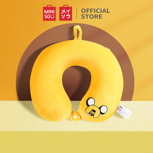 MINISO U-shaped Neck Pillow for Travel Flight & Office - Adventure Time (Yellow)