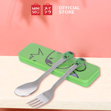 Load image into Gallery viewer, MINISO Marvel Kids Spoon and Fork Set Stainless Steel Silverware BPA Free, Cute Child Flatware with Travel Case for toddlers - Hulk