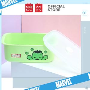 MINISO Marvel Food Container 32oz, Plastic Cartoon Storage Box for Kids Adults BPA-FREE - Hulk