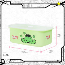 Load image into Gallery viewer, MINISO Marvel Food Container 32oz, Plastic Cartoon Storage Box for Kids Adults BPA-FREE - Hulk