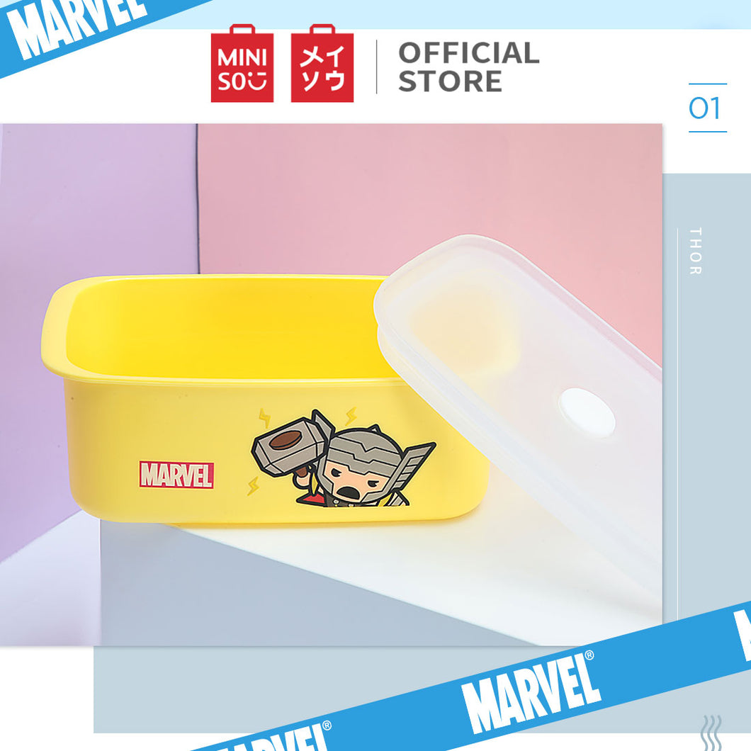 MINISO Marvel Food Container 32oz, Plastic Cartoon Storage Box for Kids Adults BPA-FREE - Thor