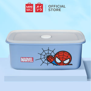 MINISO Marvel Food Container 32oz, Plastic Cartoon Storage Box for Kids Adults BPA-FREE - Spider Man