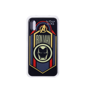 MINISO Marvel Case for iPhone X / XS, Glass Shining Phone Case Creative Beautiful Smartphone Cover