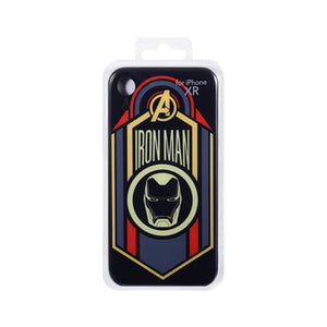 MINISO Marvel Case for iPhone XR, Glass Shining Phone Case Creative Beautiful Smartphone Cover