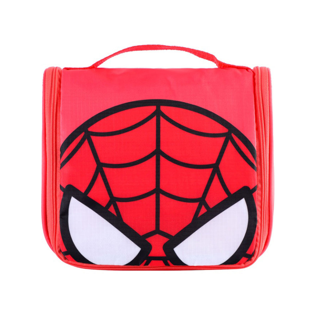 MINISO Marvel Foldable Portable Toiletry Organizer Bags Waterproof Cosmetic Pouch - Comics Red