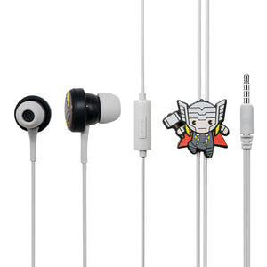 MINISO Marvel In-ear Earphone with Mic, Cute Cartoon Silicone Headphones Comfortable Earbuds for Mobile Smartphones Apple Samsung HTC Oneplus - Thor
