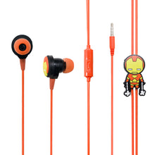 Load image into Gallery viewer, MINISO Marvel In-ear Earphone with Mic, Cute Cartoon Silicone Headphones Comfortable Earbuds for Mobile Smartphones Apple Samsung HTC Oneplus - Iron Man