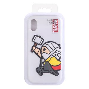 MINISO Marvel Silicone Phone Case for iPhone X / XS, Cute Shockproof Protective Case Cover