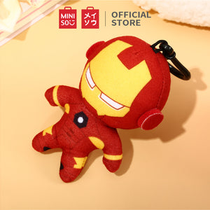 "MINSIO Marvel Cute Plush Charm Keychain 4.7"",Decorative Ornament Pendant Keyring for Girls, Boys, Women, kids - Iron Man"