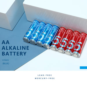 AA Alkaline Battery 8 Pack