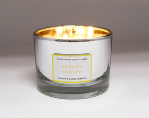 Luxury Series 3-candlewick Scented Candle - Coconut Lime Verbena