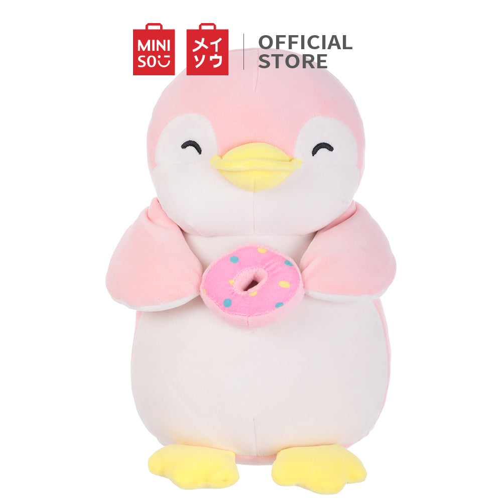 Penguin Plush Toy - Holding Donut