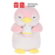 "Load image into Gallery viewer, MINISO Penguin Plush Toy, Cute Stuffed Animal Doll Gift for Kids Girls 13"" - Holding Ice-cream"