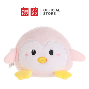 "MINISO Penguin Plush Toy, Cute Stuffed Animal Doll Gift for Kids Girls 4.33"" - Round Shape"
