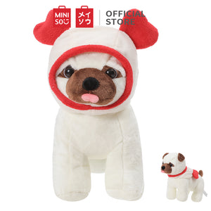 Pug Dog Plush Toy - Double Heart Hat