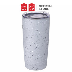 MINISO Tumbler 20oz  Vacuum Insulated Travel Mug | Coffee Bear Cup for Office Car - Light Blue