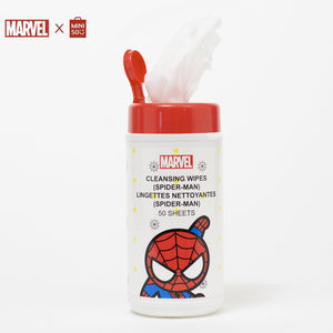 MINISO MARVEL Wet Wipes for Baby with Pure Water, Unscented Alcohol-Free, 50 Sheets - Spiderman