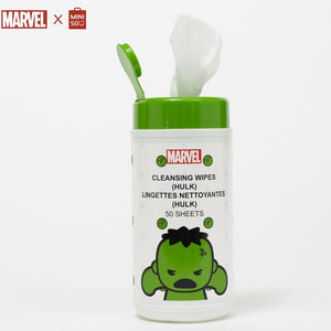 MINISO MARVEL Wet Wipes for Baby with Pure Water, Unscented Alcohol-Free, 50 Sheets - Hulk