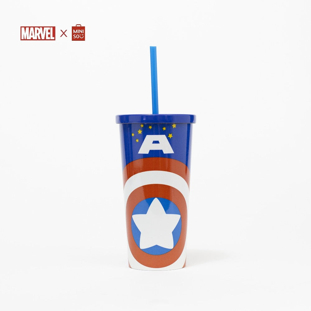 Marvel Tumbler with Straw - Captain America