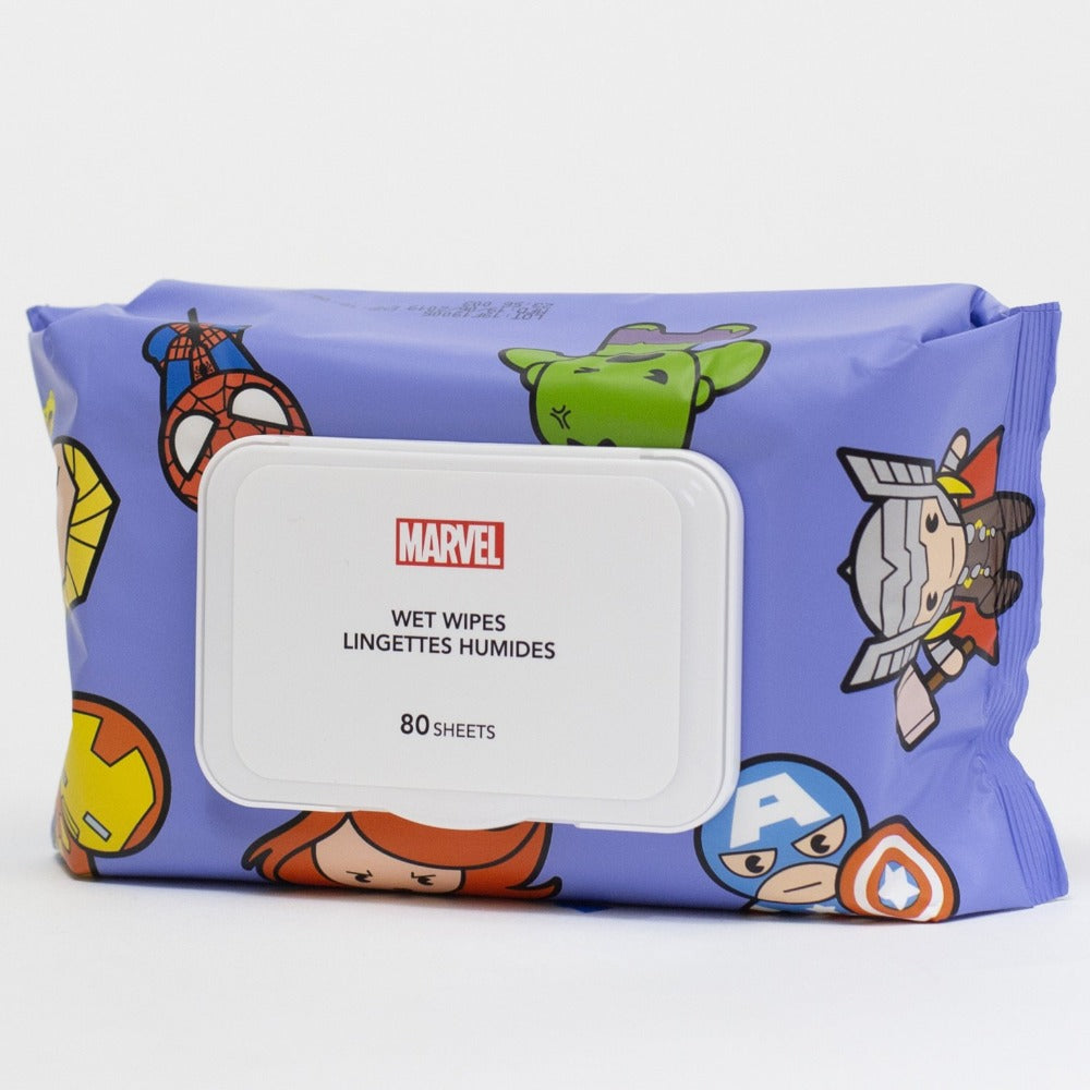 MINISO MARVEL Wet Wipes for Baby with Pure Water, Unscented Alcohol-Free, 80 Sheets - Super Hero