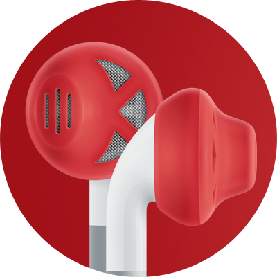 ES1 for earbuds / Red