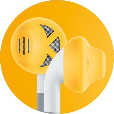 ES1 for earbuds / Yellow