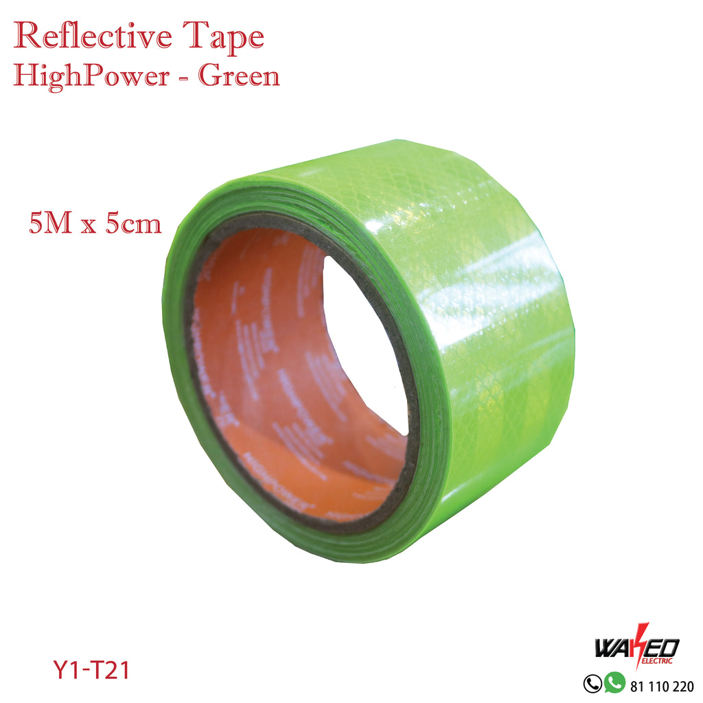 Reflective Tape - Green - 5m