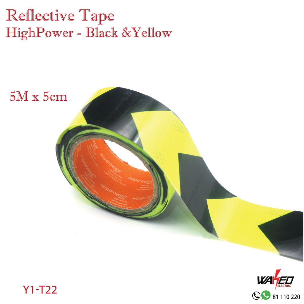 Reflective Tape-Black Yellow- 5m