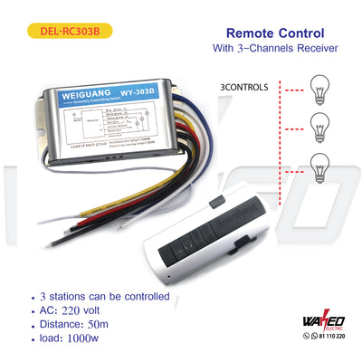 Remote Control - With 3 Channel Receiver
