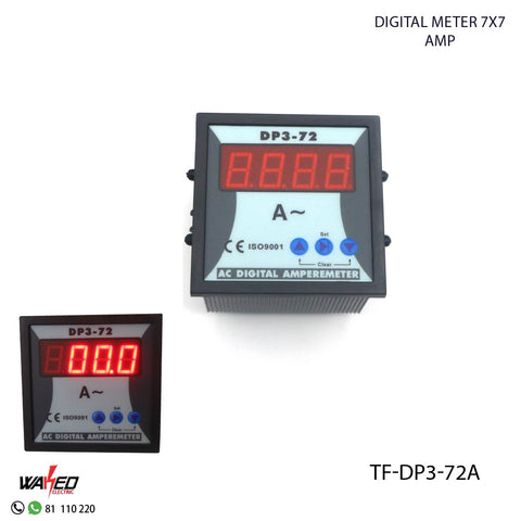 Digital Meter - 7X7 -AMP