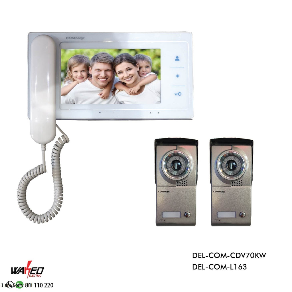 1pcs CDV 70KM Video DoorPhone Intercom monitor with 2 Outdoor panel