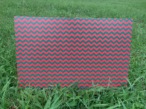 PatternPly Red and Green Chevron, 2 sided