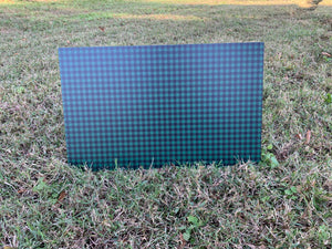 PatternPly Green and Black Buffalo Plaid, 2 sided